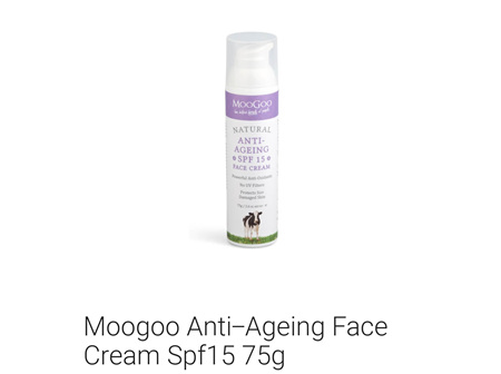 MOOGOO Anti-Age Face Cr SPF15 75g
