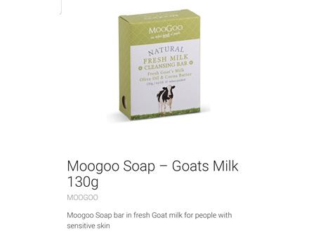 MOOGOO Soap Goats Milk 130g