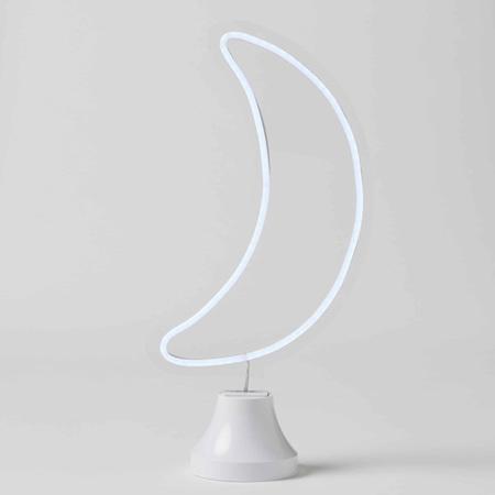 MOON LED LIGHT ON STAND CHILL LED NEON BOX LIGHT (BATTERY+USB)