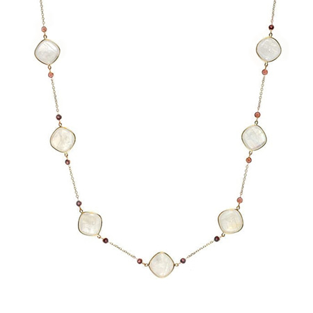 Moonstone and Garnet Necklace