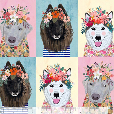 More Floral Pets - Puppies Panel