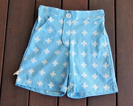 'Morgan' Flat Front Shorts, 'Aqua Plus' 100% Cotton, 1 year