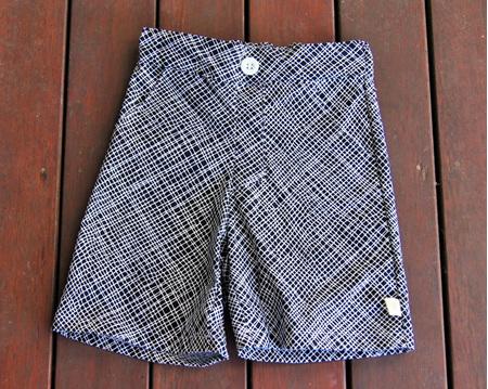 'Morgan' Flat Front Shorts, 'Thicket Black' 100% Cotton, 1 year