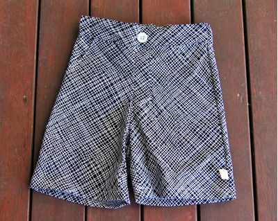'Morgan' Flat Front Shorts, 'Thicket Black' 100% Cotton, 4  years