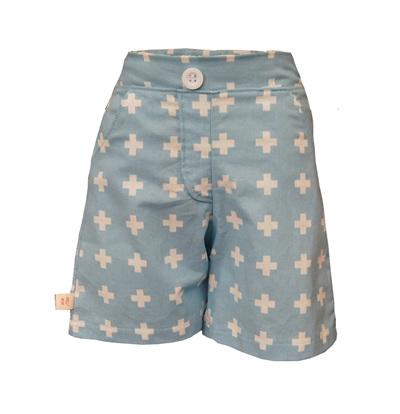 'Morgan' Flat Front Shorts with Pockets