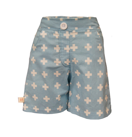 'Morgan' Flat Front Shorts with Pockets