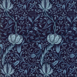 Morris Garden Flora Indigo 733117