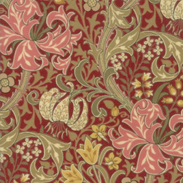 Morris Garden Golden Lily Crimson 733014