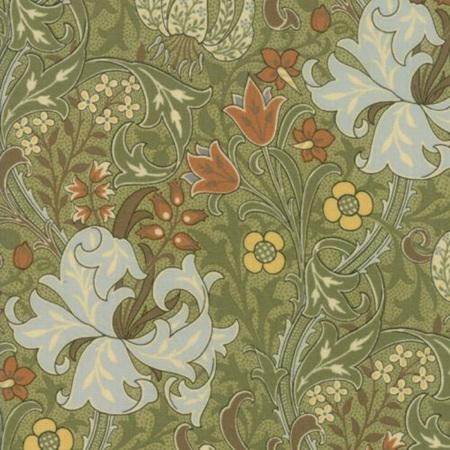 Morris Garden Golden Lily Sage 783016