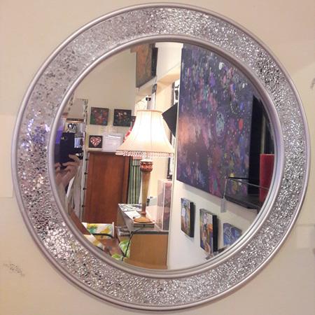 Mosaic Round Mirror - $475