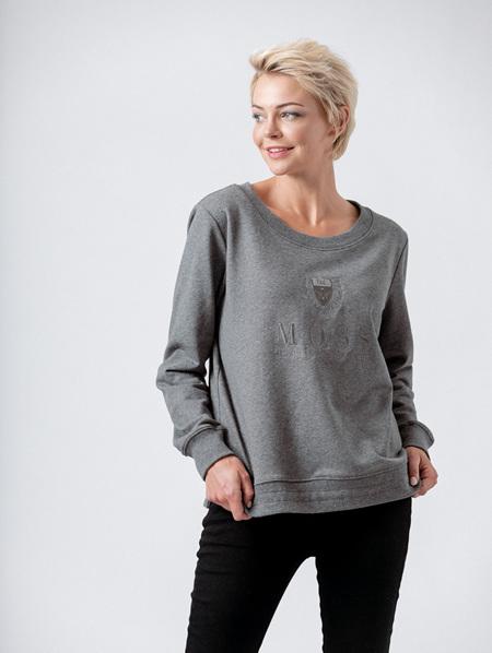 Moss Heritage Sweat - Grey Marle