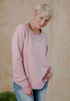 Moss Heritage Sweater - Blush