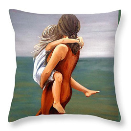Mother & Child Embrace Cushion Cover