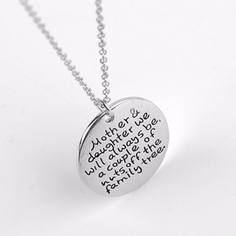 Mother & Daughter funny Necklace