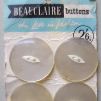 Beauclaire vintage buttons