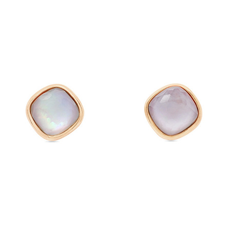 Mother of Pearl Rose Gold Stud Earrings