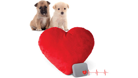 Mothers Heartbeat Puppy heart pillow