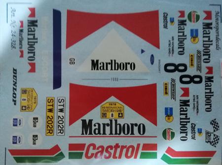 Motorsport Decals 1/24 Vatanen Marlboro Escort (24-328)