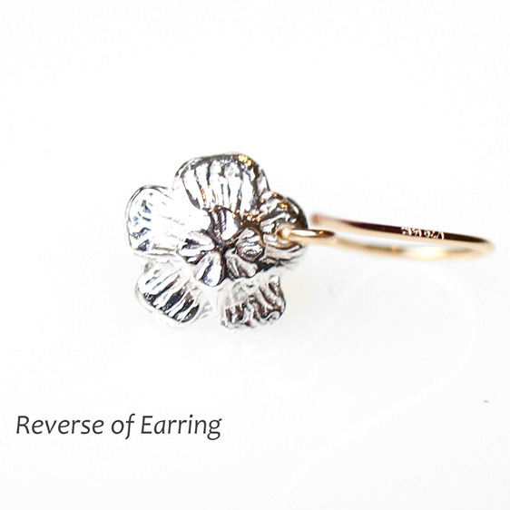 mount cook lily flower studs sterling silver gold wedding summer earrings