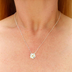 mount cook lily sterling silver gold flower dainty necklace wedding