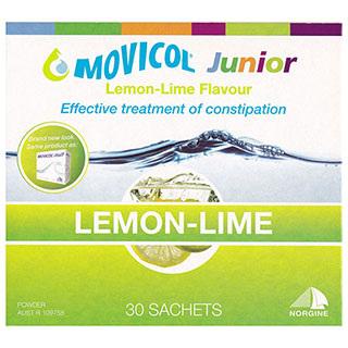 Movicol Junior Lemon-Lime Flavoured Sachets, 30 x 6.9G