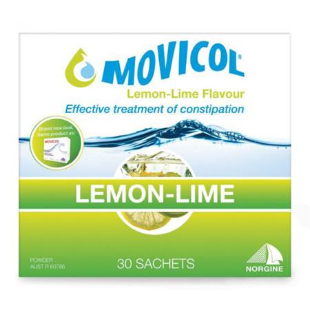 Movicol Lemon-Lime Flavour Sachets, 30 x 13.8G