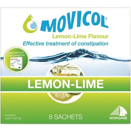 Movicol Lemon-Lime Flavour Sachets, 8 x 13.8G