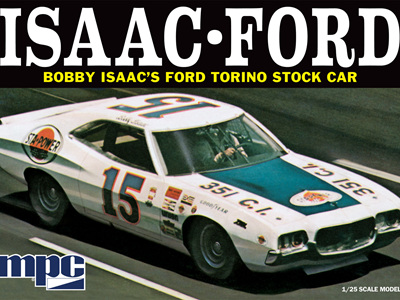 MPC 1/25 1972 Ford Torino Bobby Isaac 15 Sta-Power Stock Car
