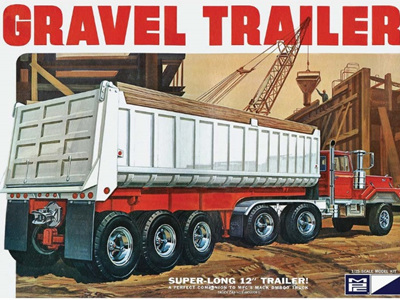 MPC 1/25 3-Axle Gravel Trailer