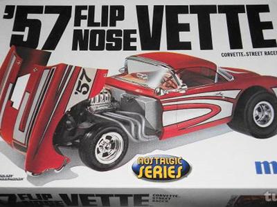 MPC 1/25 57 Flip Nose Vette Street Racer