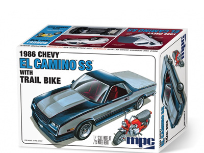 MPC 1/25 86 El Camino SS with Dirtbike