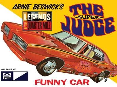 "MPC 1/25 Arnie Beswick ""The Super Judge"" 1969 Pontiac GTO Funny Car"
