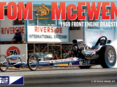 MPC 1/25 Tom McEwen 1969 Front Engine Dragster
