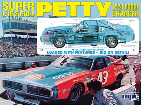 MPC 1/16 Richard Petty 1973 Dodge Charger (MPC938)