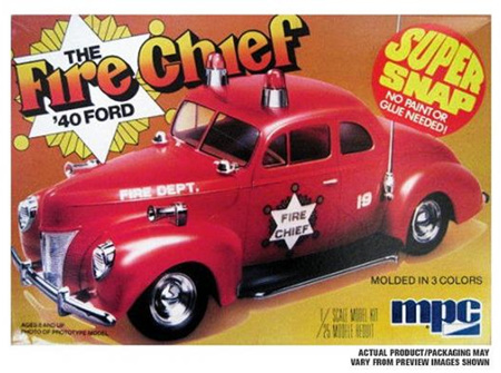 MPC 1/25 1940 Ford Fire Chief Snap Kit