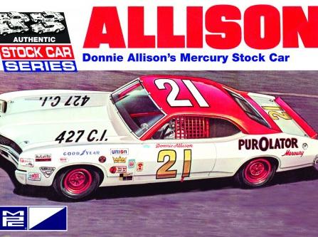 MPC 1/25 Donnie Allison 1971 Mercury Cyclone Stock Car