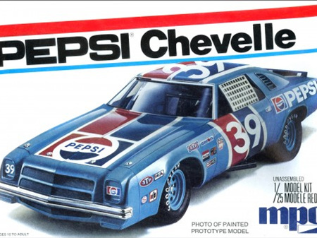 MPC 1/25 Pepsi 1975 Chevy Chevelle Stock Car