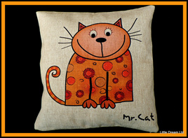 """Mr Cat Cushion"""