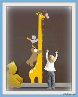 """""""Mr Giraffe Height Chart"""""""