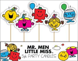 Mr Men Candles x 5