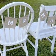 'Mr' 'Mrs' Chair Bunting
