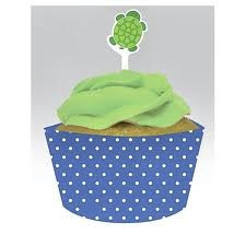 Mr Turtle Cupcake Wraps