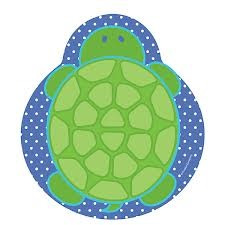 Mr Turtle Shaped Party Plates