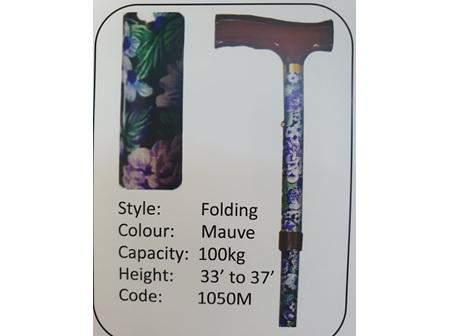 MS Folding Mauve Walking Stick