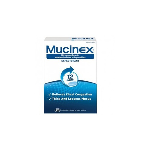 Mucinex 600mg Tablets 20