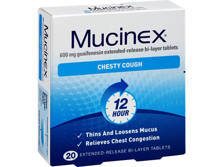 Mucinex Chesty Cough 600mg 20 Tablets