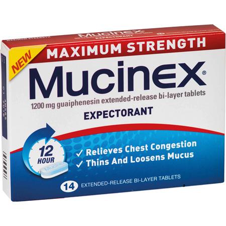 MUCINEX Max. Strength 1200mg 14s