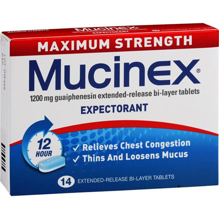 Mucinex Maximum Strength 1200mg 14 Tablets