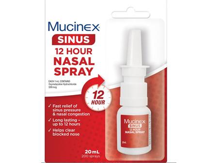 MUCINEX Sinus 12Hr Nasal Spr. 20ml