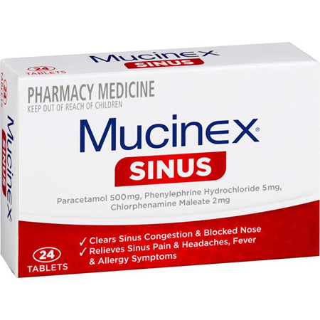 Mucinex Sinus 24 Tablets